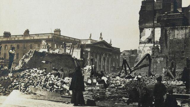 The Ruins of Dublin 1916 Thomas Johnson Westropp (1860-1922)  Photograph album TCD MS 5870 Manuscripts & Archives Research Library Trinity College Dublin