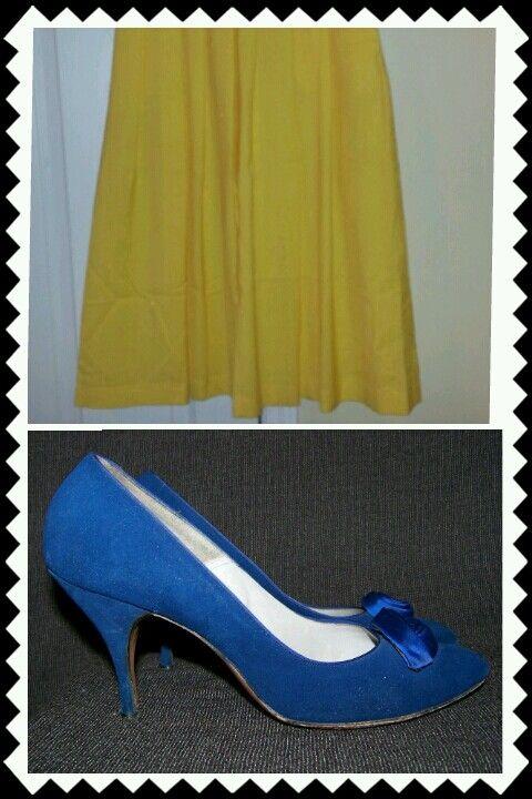 GOOD DAY SUNSHINE - Sunshine Yellow Skirt http://perfectlyimperfect7913.blogspot.com/2013/02/good-day-sunshine-sunshine-yellow-skirt.html #vintage #yelllow #skirt