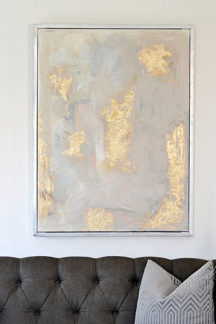 ad21a5ae6315 DIY Gold Leaf Abstract Art