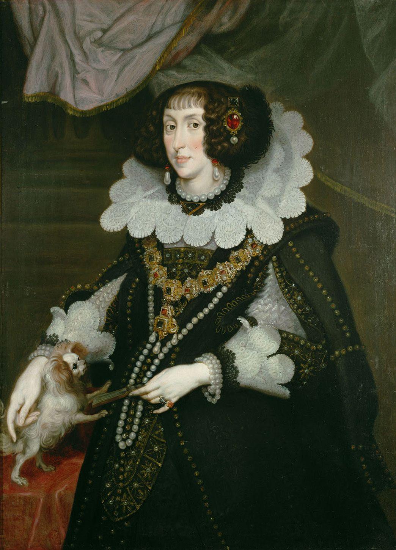 1643 Electress Maria Anna By Joachim Von Sandrart Kunsthistorisches Museum Wien Austria Upgrade Wm Fixed Historical Costume 17th Century Fashion Portrait