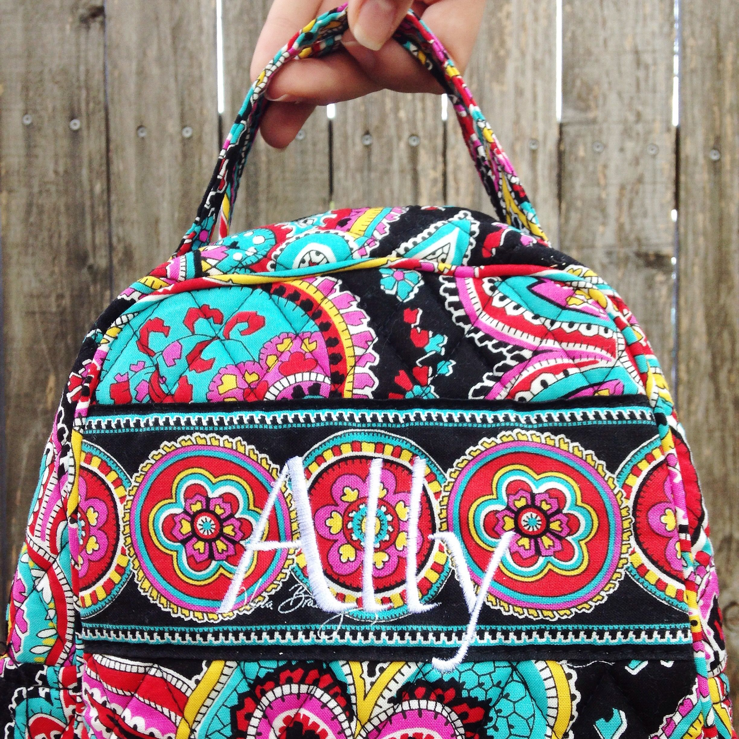 Embroidered Vera Bradley lunch box  547a5d431ac56