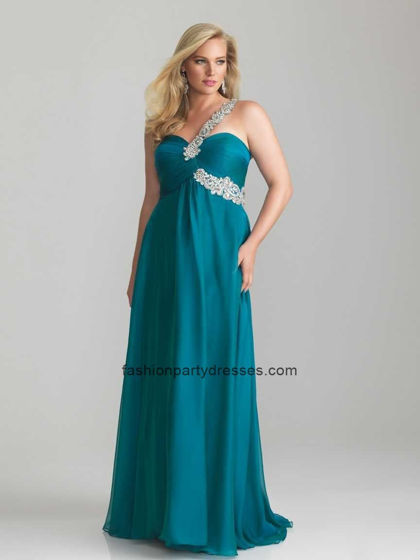 NM6678 One-Shoulder Sweetheart Plus Size Prom Gown | Plus Size ...