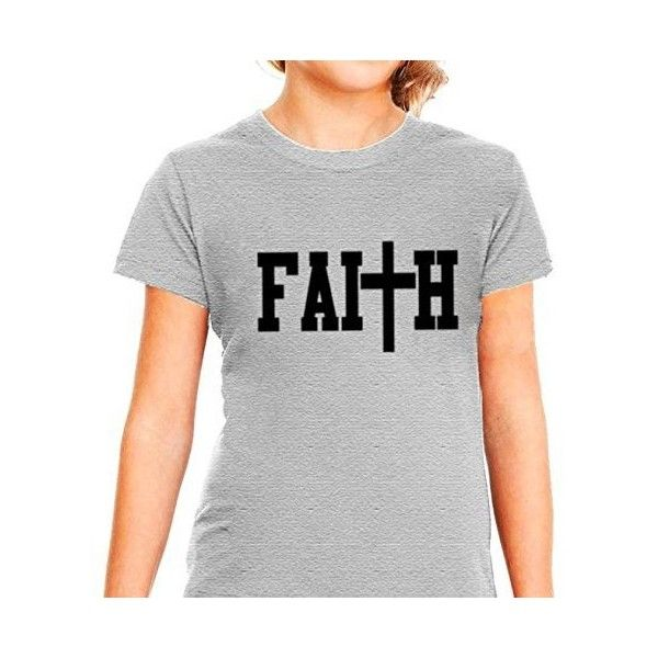 Amazon.com: Faith shirt girls Christian Jesus shirt: Clothing ($14) ❤ liked on Polyvore featuring christian shirt and psalm