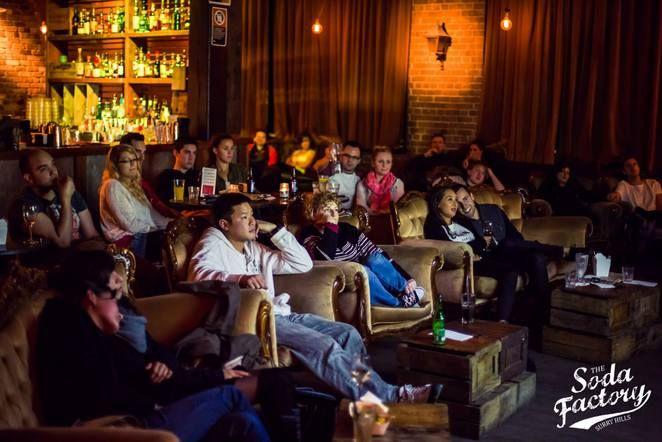 soda factory, sydney , movie night