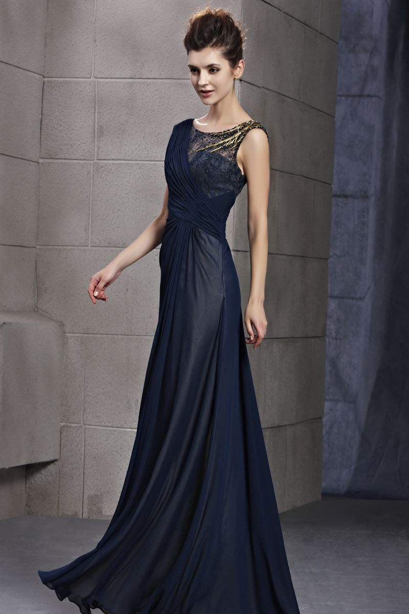 Navy blue evening dress uk