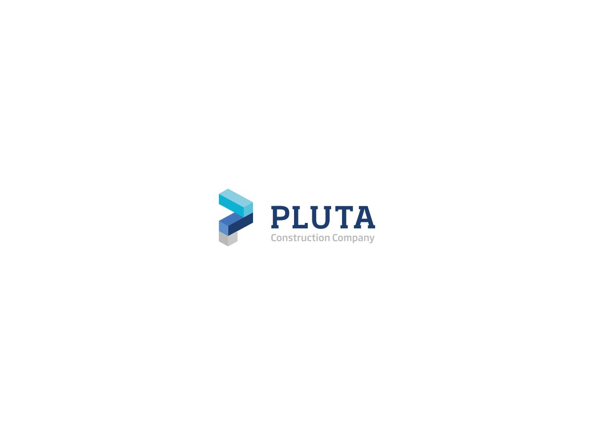 pluta-construction-building-construction company logo-geometric-p ... for Corporate Logo Design Examples  34eri