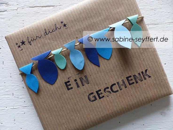 DIY Geschenkverpackung selbst gemacht: Maritim verpacktes