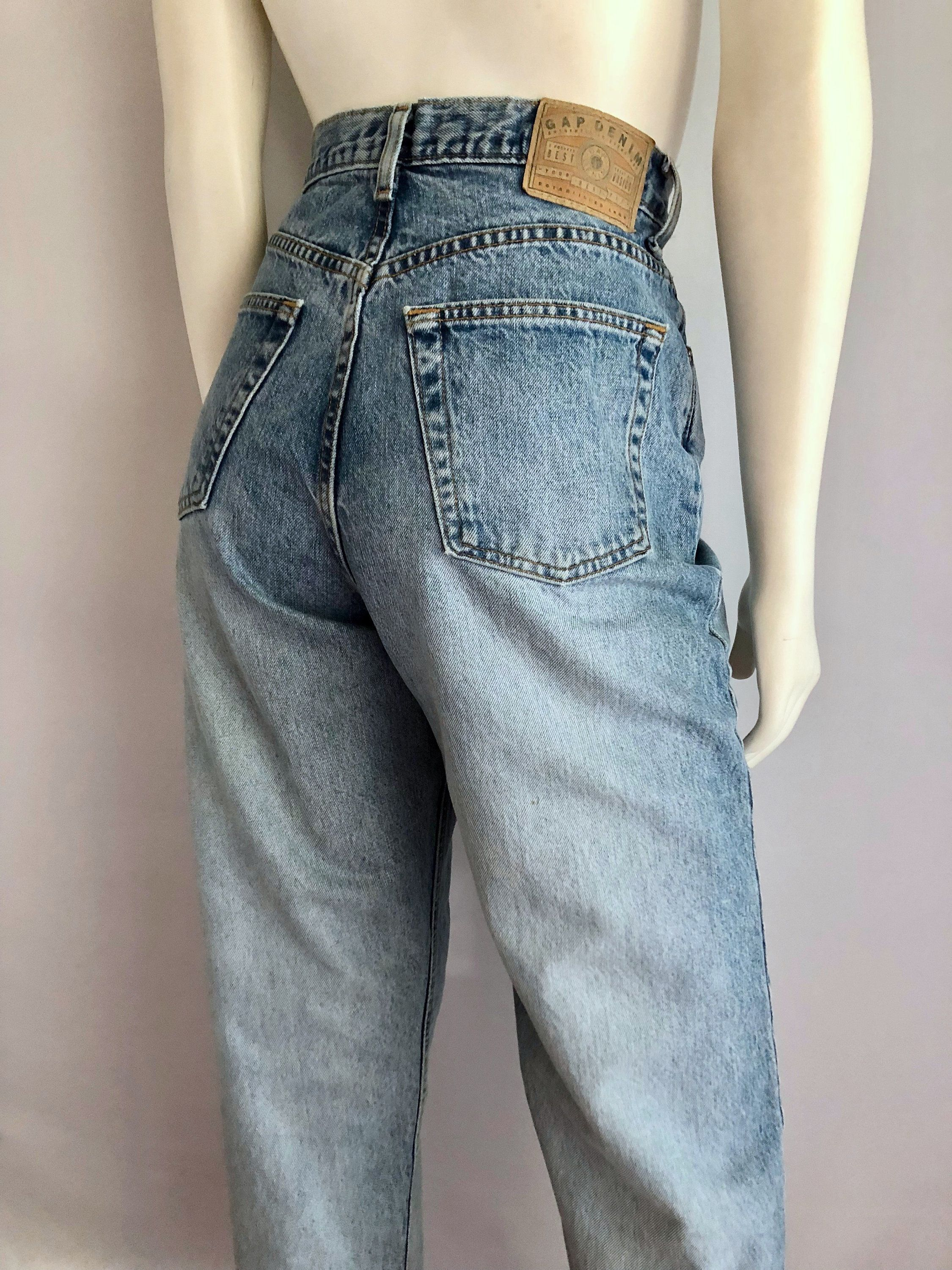 dc22f4c0 Vintage Women's 80's Gap Jeans, High Waisted, Reverse Cut, Denim (L) by  Freshandswanky on Etsy