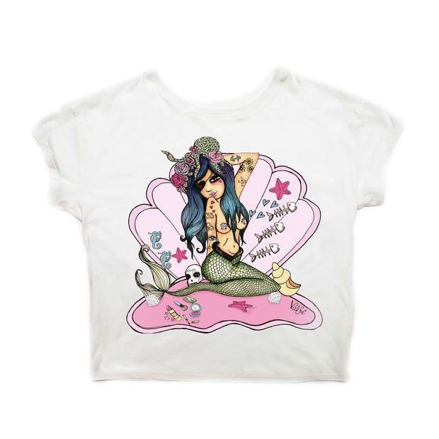 Mermaid Girl Crew Tee #ValfrePinToWin