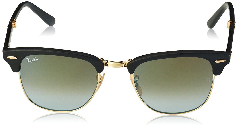 8f871501717 Ray-Ban Clubmaster Folding Sunglasses (RB2176) Black Matte Green Acetate -  Non