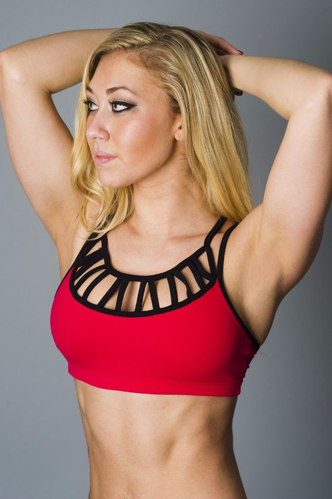 Deep Red Laced Sports Bra