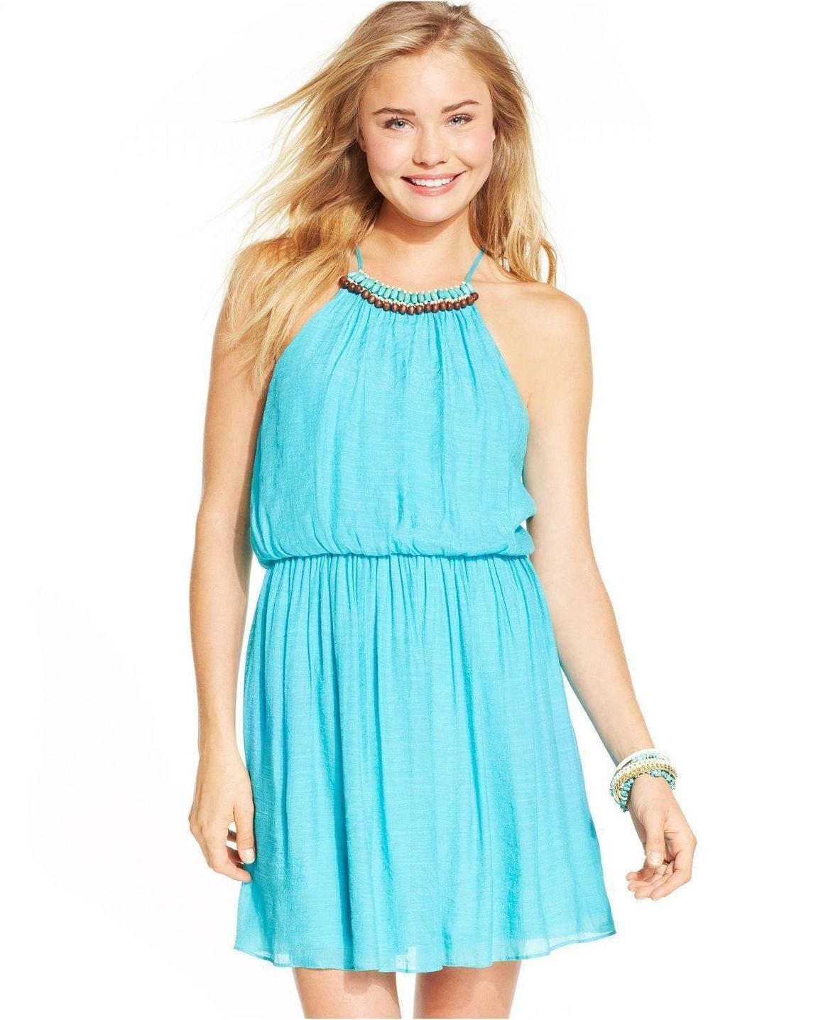 As U Wish Juniors\' Blouson Dress http://picvpic.com/women-dresses ...