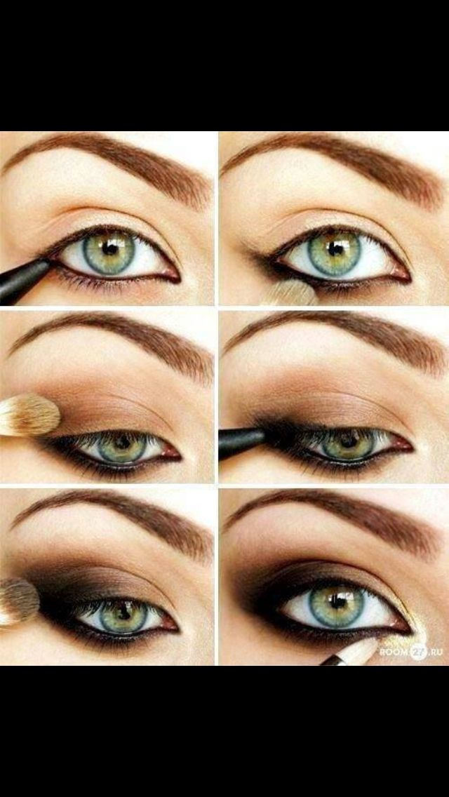 Sexy makeup for green eyes