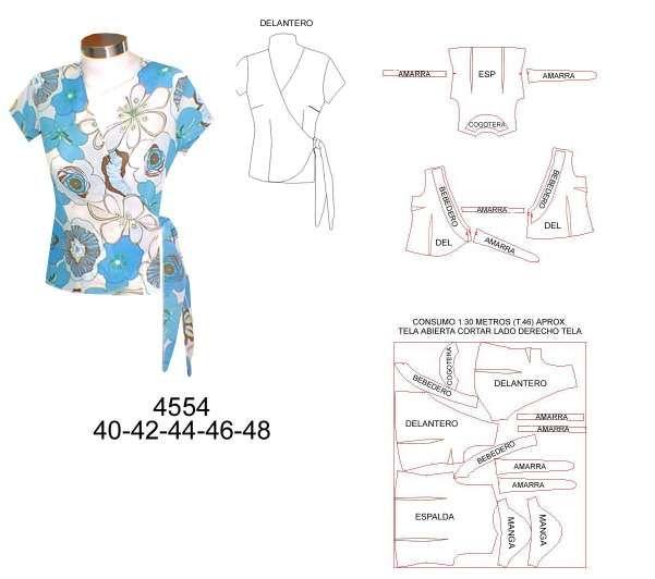 4554.jpg (601×532) | ropa perla | Pinterest | Blusas escotadas ...