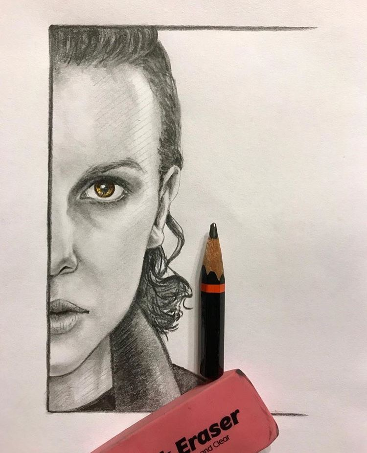 Eleven Millie Bobby Brown Eleven Stranger Things Drawing Stranger Things Stranger Things Art