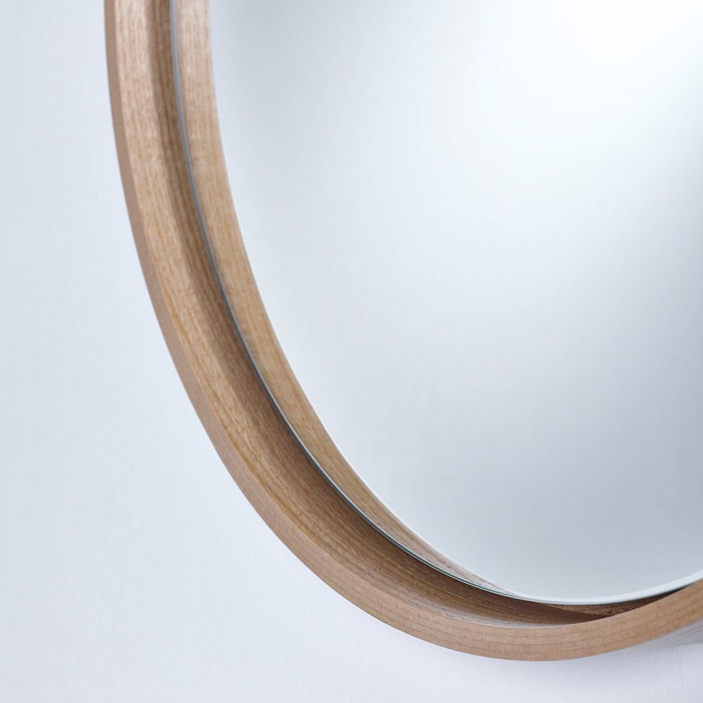 Deknudt Radius Medium Wall Mirror Oak Veneer In 2019 Mirror