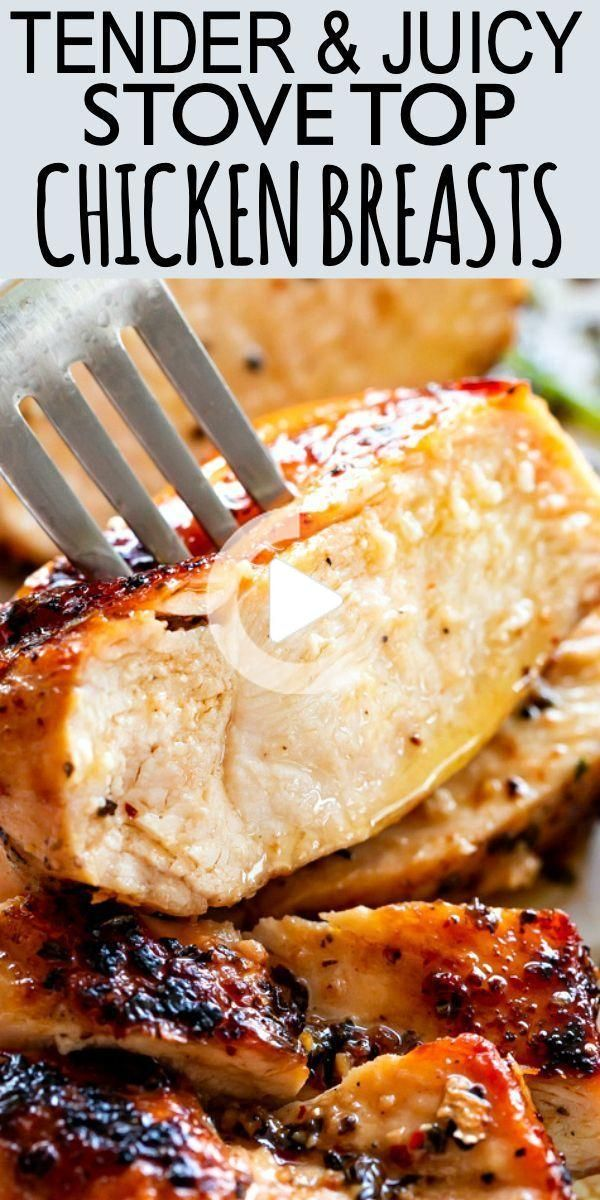 Photo of Juicy Stove Top Chicken Breast-An Easy Chicken Recipe!