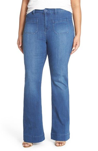 Melissa McCarthy Seven7 Stretch Flare Leg Jeans (Plus Size ...