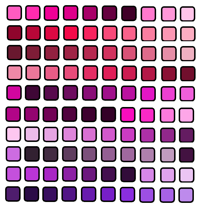 Pink Purple Shades Colour Palette Colour Palettes Pinterest