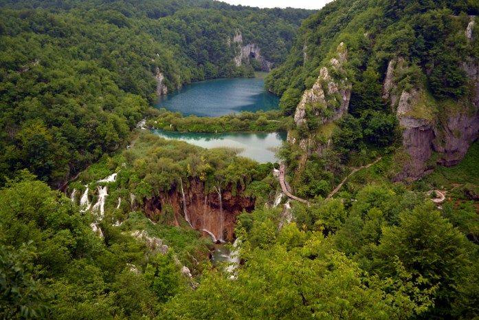The best view over Plitvice Lakes, Croatia.