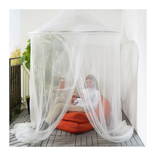 Could hand mosquito netting over seating area | SOLIG Net - IKEA  sc 1 st  Pinterest & SOLIG Net white | Canopy Balconies and Patios