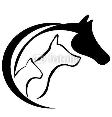 papier peint chien de cheval et vecteur de logo de chat cheval rh pinterest com Cool Yin Yang Vector Wings