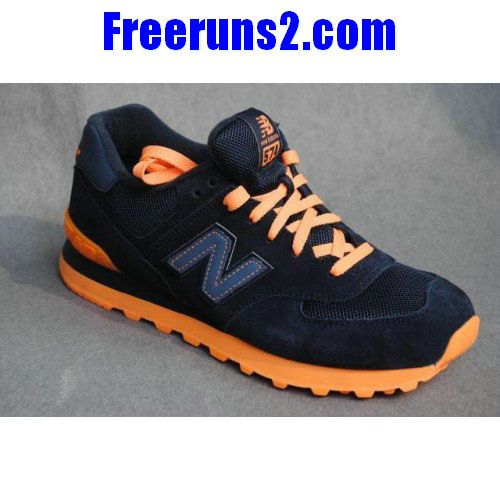 Best Gift New Balance NB Japanese style Ink Blue Orange For Men shoes  Casual shoes Shop