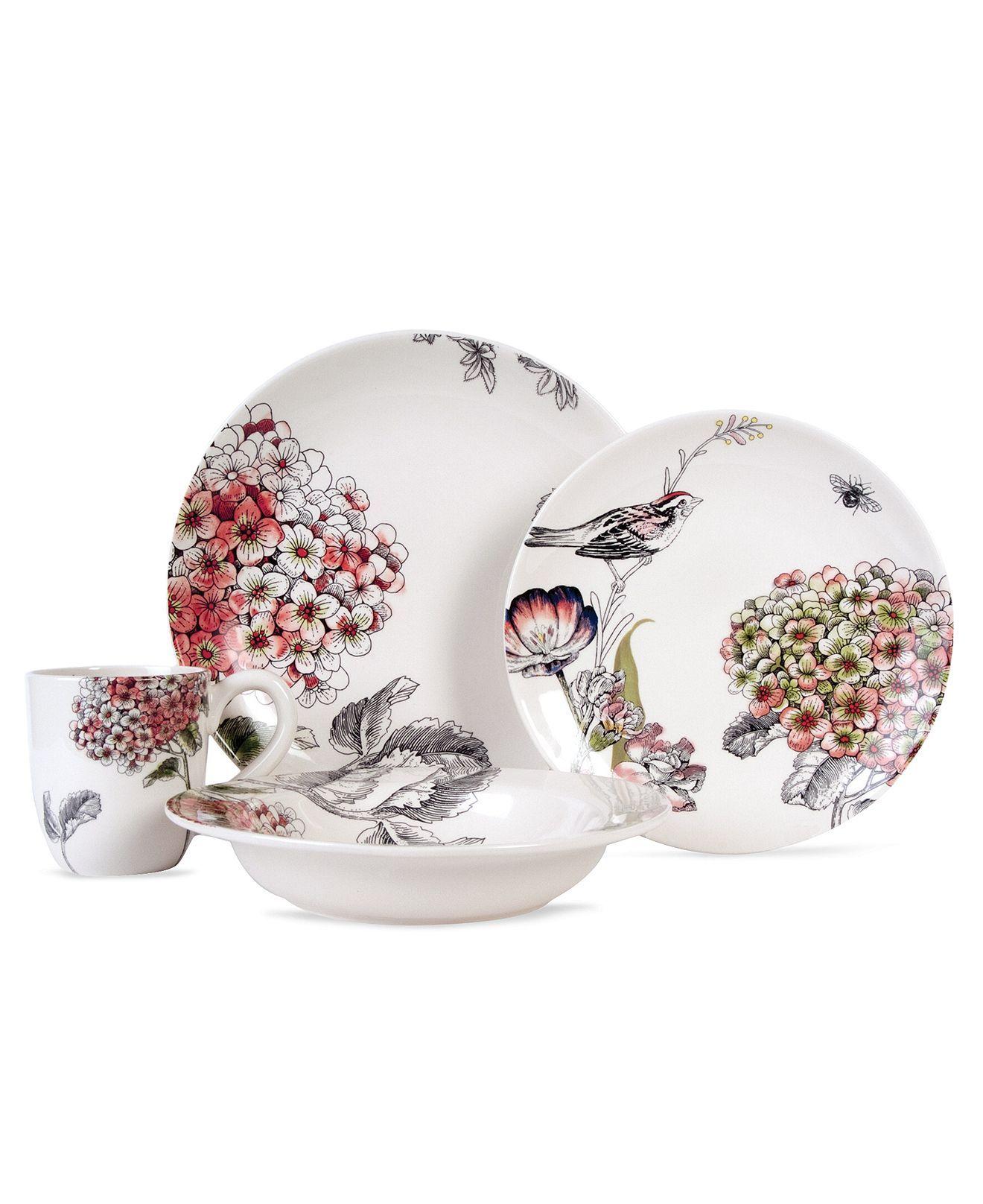 edie rose by rachel bilson dinnerware hydrangea 4 piece place setting casual dinnerware