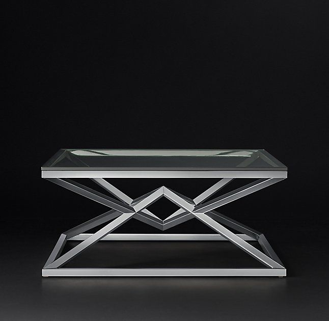 Empire Square Coffee Table Stainless Steel