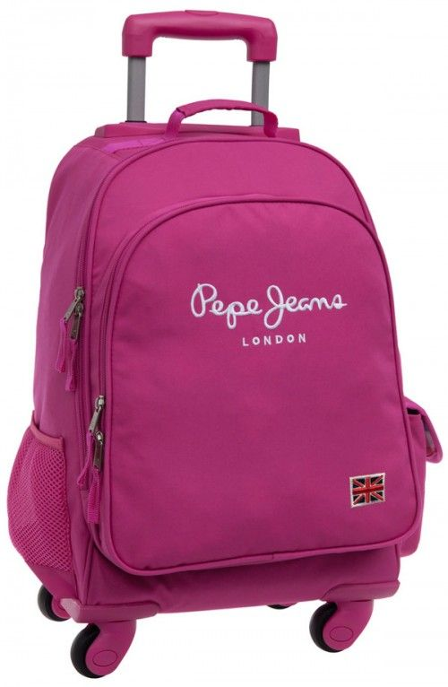 e8729db10 mochila pepe jeans original pepe pink 4 ruedas | Mochilas Pepe Jeans ...