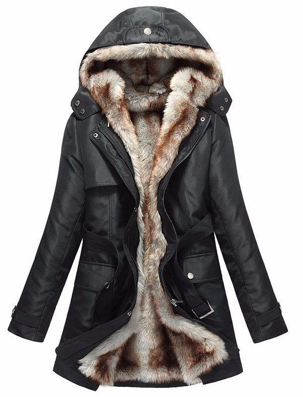 Tessa Fur Lined Parka Jacket Winter, Womens Winter Coat With Fur Lined Hood