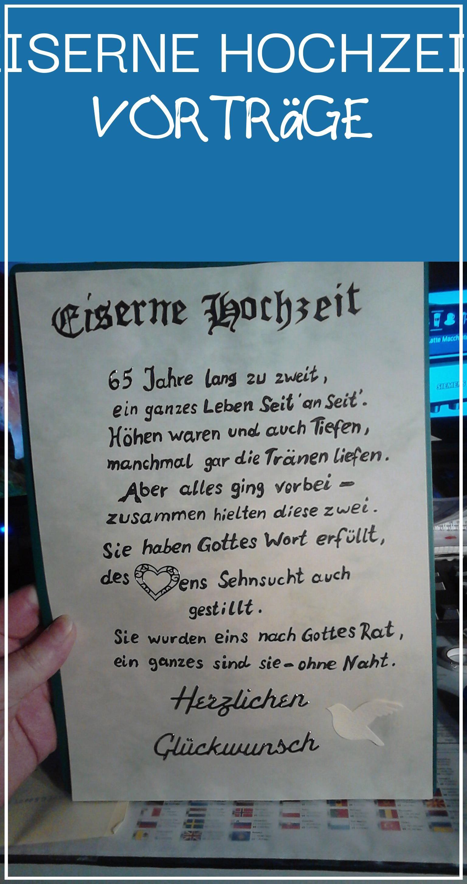Perfect 16 Eiserne Hochzeit Vorträge