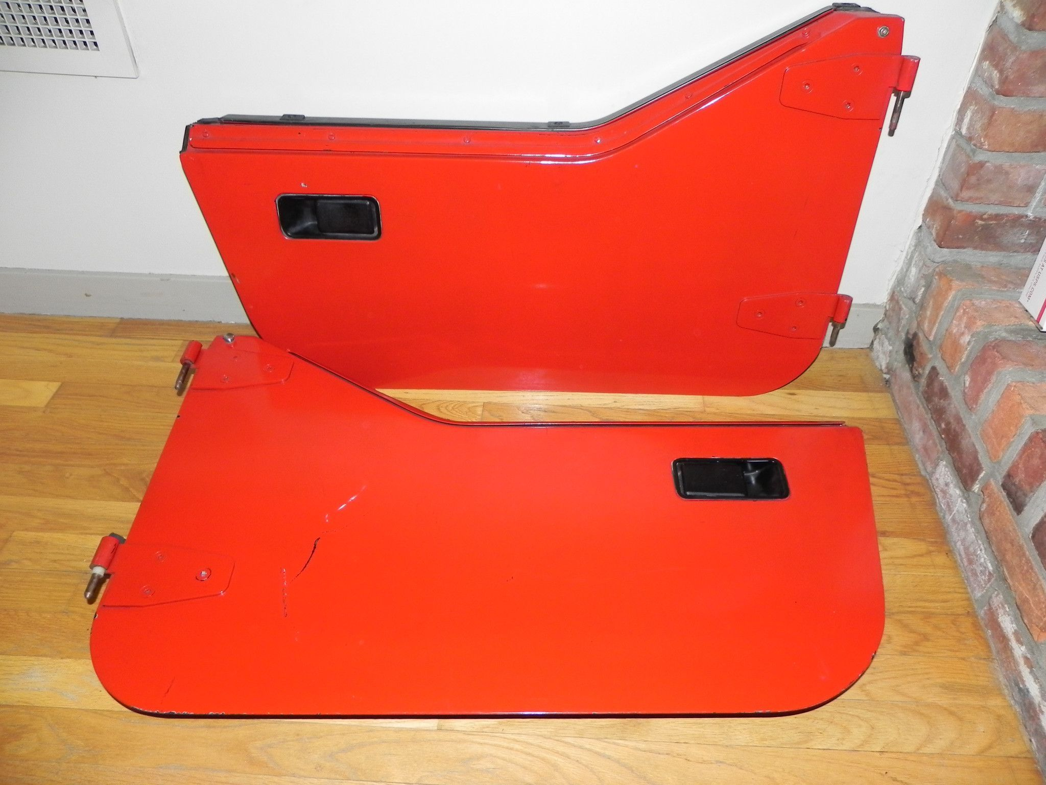 Red Hard Half Doors Pair Jeep Wrangler Yj 87 95 2 Jeep