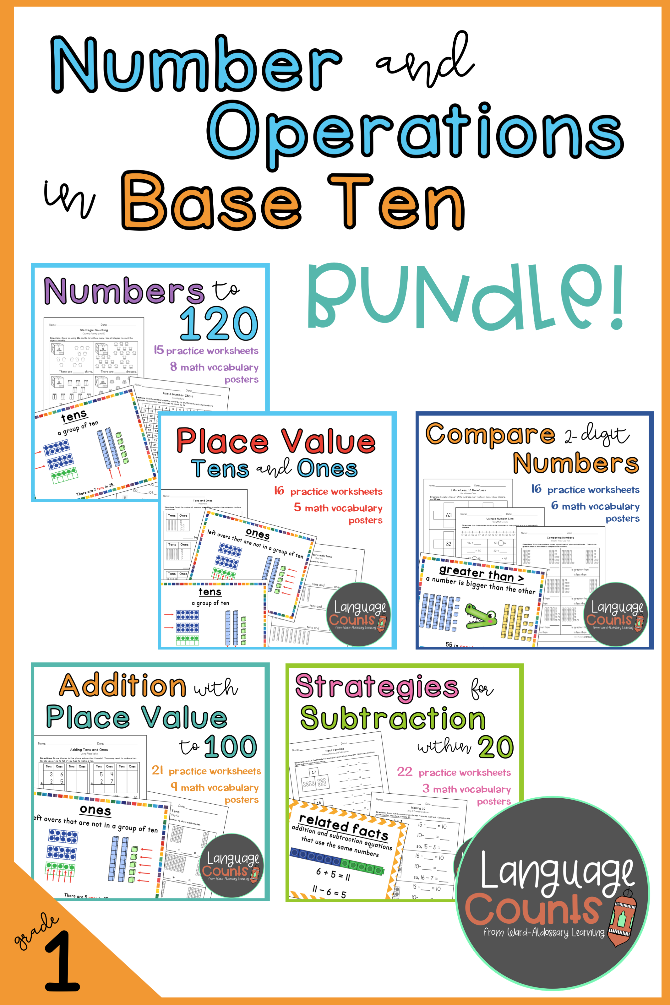 Meet All Of The First Grade Number And Operations In Base Ten Standards With This Math Bundle Aligned To Envision Base Ten Math Bundle Elementary School Math [ 3200 x 2133 Pixel ]