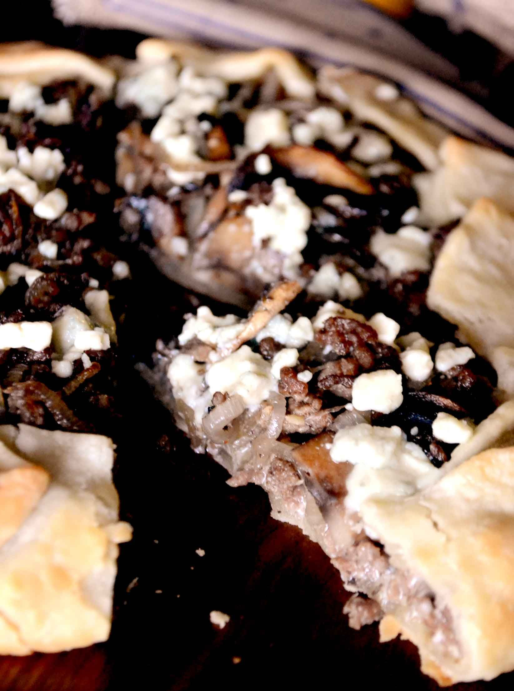 Beef and Blue Cheese Galette Recipe #recipe #bake #beef #easy #yummy #delicious #Bluecheese