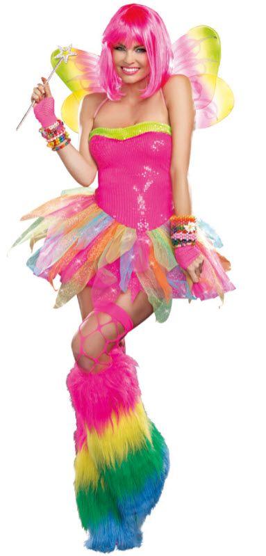 Womenu0027s Rainbow Fairy Costume