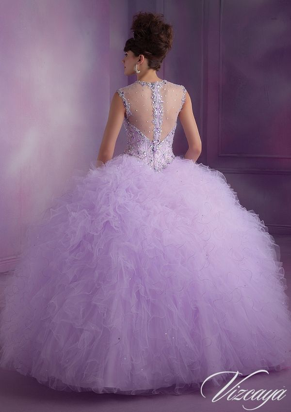Quinceanera Gowns Style 89010: 89010 Ruffled Tulle Quinceanera Gown ...