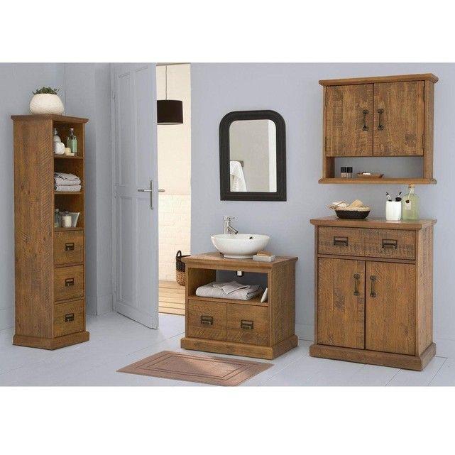Colonne de rangement salle de bain Lindley   Meuble sous lavabo, Meuble haut, Meuble haut salle ...