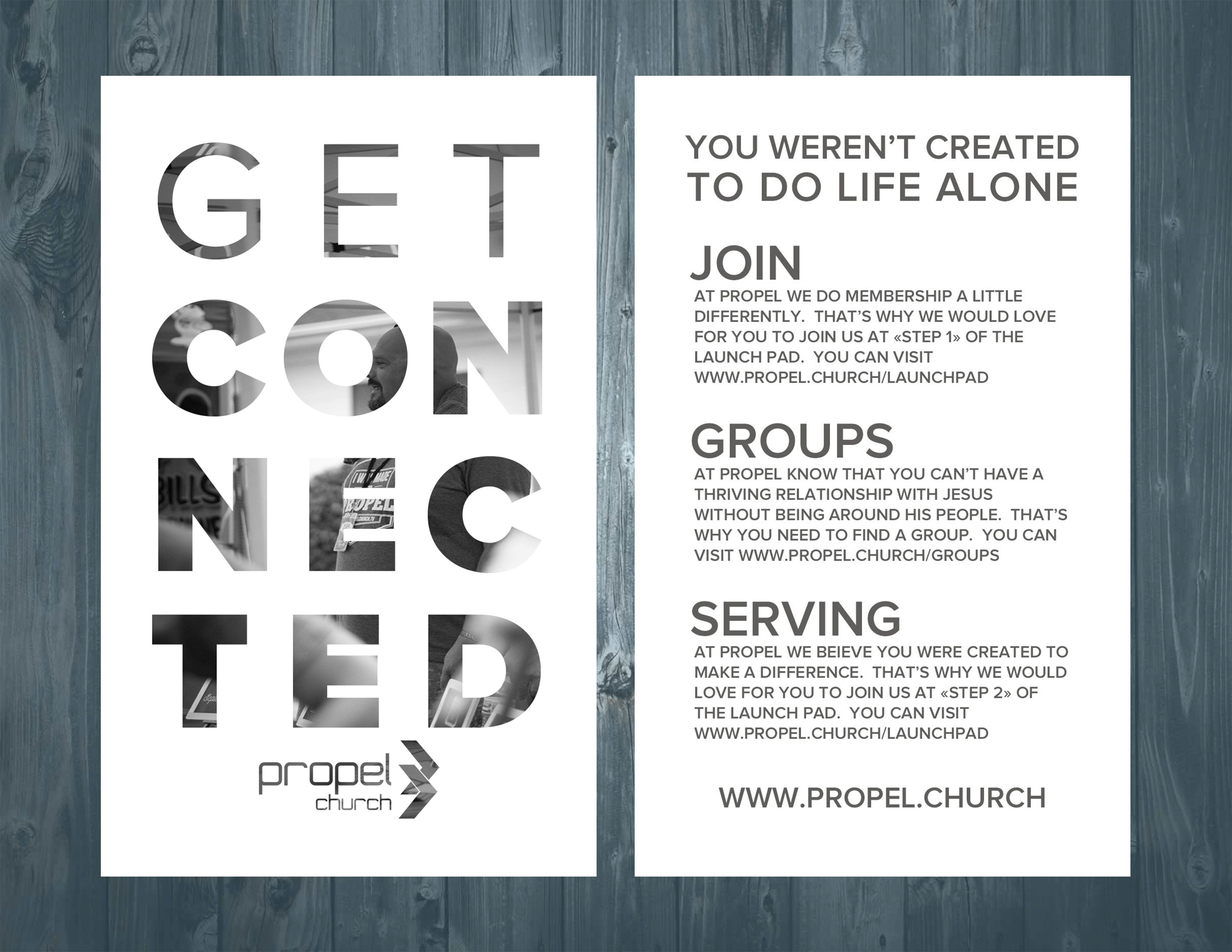 help the people in your church get connected with this editable psd