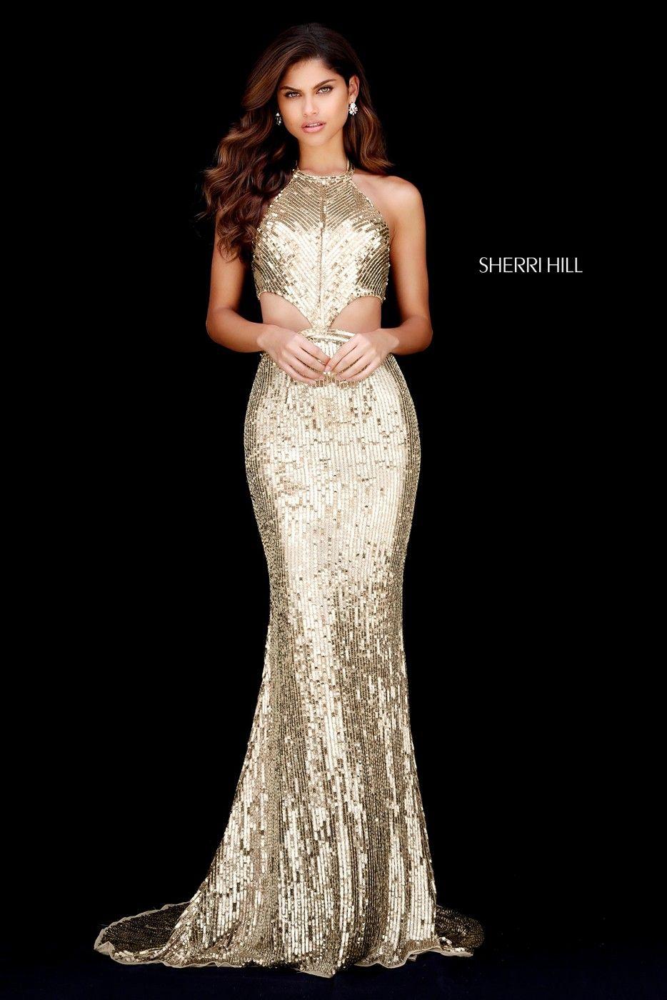 f45196ff376 Sherri Hill 51663 Halter Neckline Prom Dress
