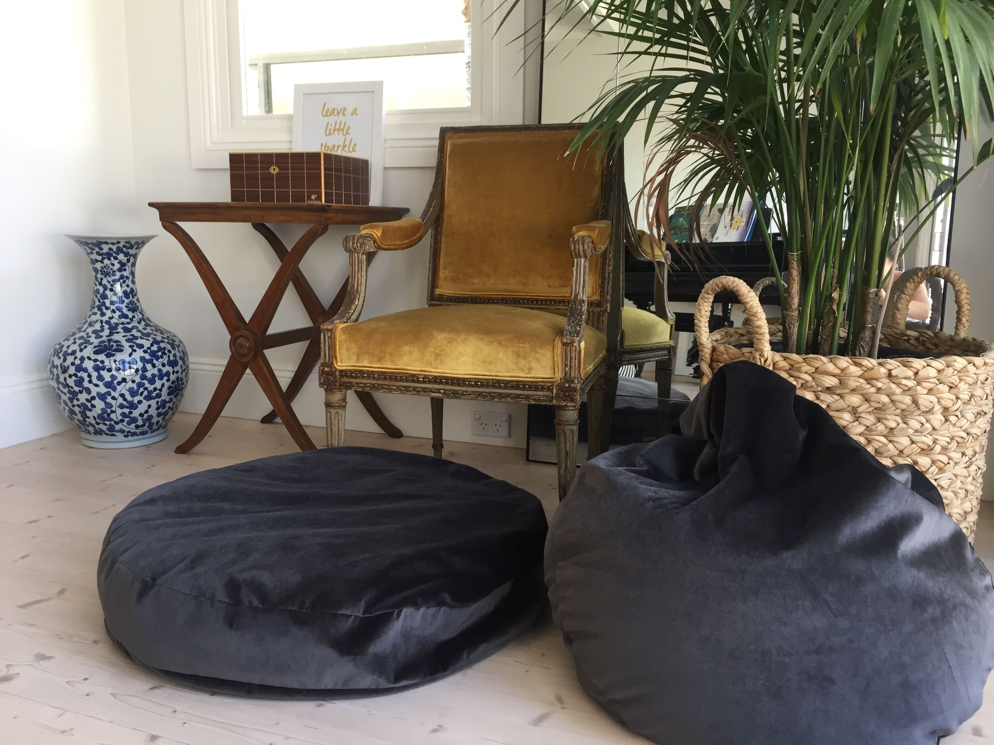 Mega meditation cushions create home sanctuary with lux velvet