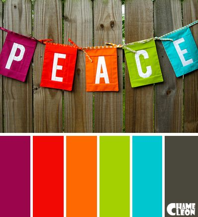 Color Palette Peace Magenta Red Orange Green Blue