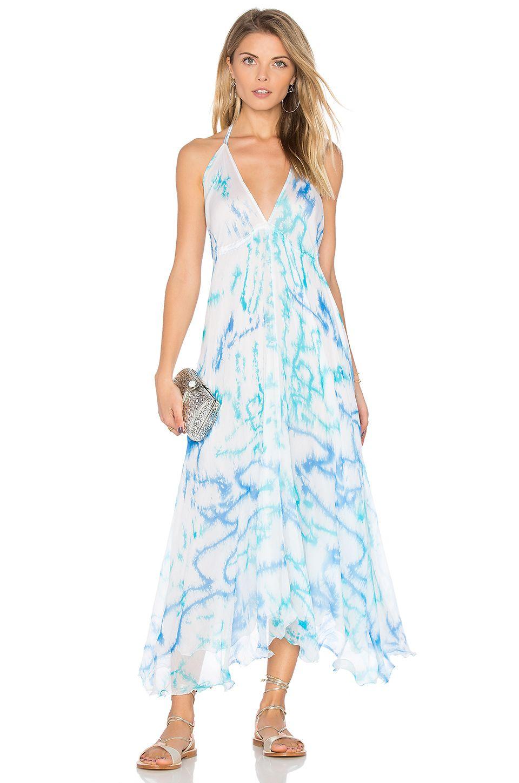 d46787cb3c juliet dunn Parachute Maxi Dress in Blue   Turquoise