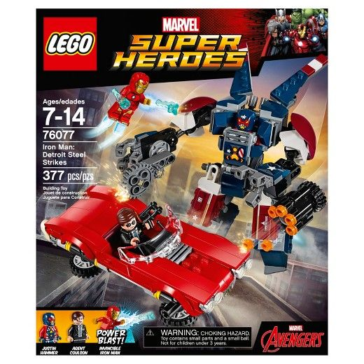 IN *NO MINIFIGS* NEW LEGO SUPER HEROES 76077 DETROIT STEELE POSEABLE MECH BOX