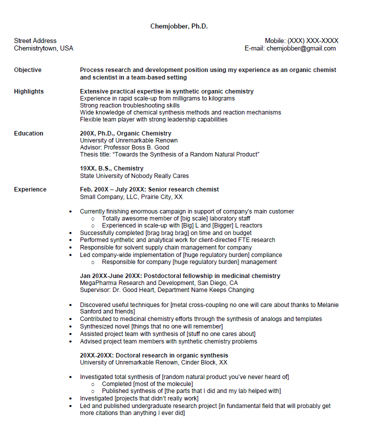 Chemist Resume Samples Click Here To Download This R And D