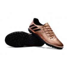 pretty nice 5b4c8 01013 Fabrication Chaussures De Foot Adidas Enfant Messi 16.3 TF - Cuivre  Noir Vert Solaire