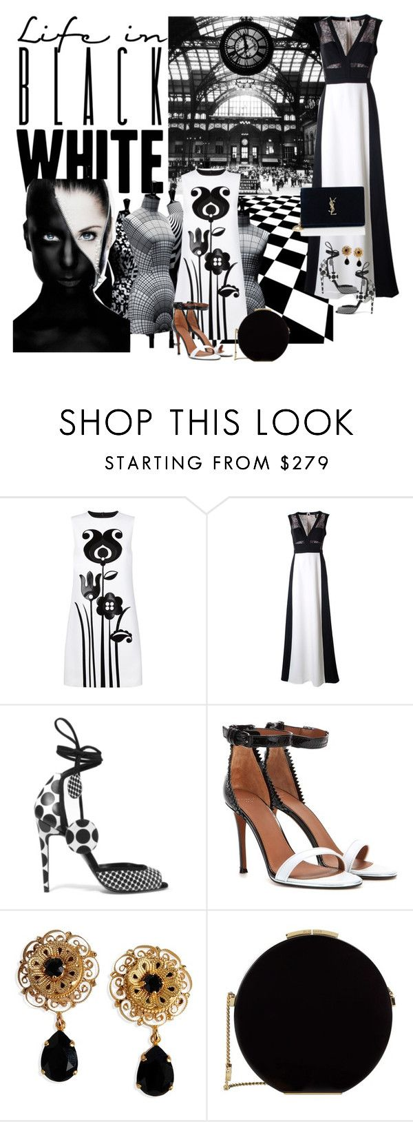 """""""Black and White"""" by obsessedaboutstyle ❤ liked on Polyvore featuring Victoria, Victoria Beckham, BCBGMAXAZRIA, Pierre Hardy, Givenchy, Dolce&Gabbana, Elie Saab, Yves Saint Laurent, blackandwhite, StyleBlogger and polyvoreeditorial"""