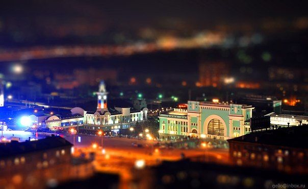 Toy photo about Railway station of Novosibirsk
