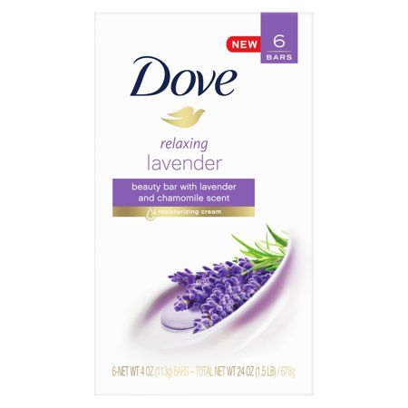 Dove Beauty Bar Relaxing Lavender 3 75 Oz 6 Bars Walmart Com Beauty Bar Dove Beauty Bar Dove Beauty
