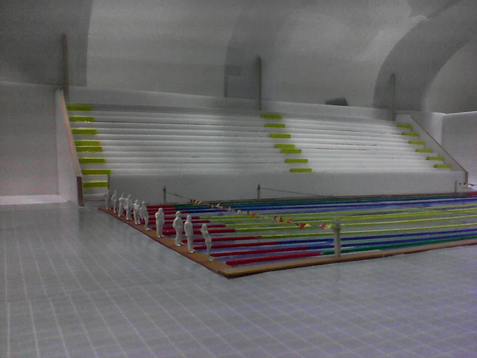 Elaboraci n de una maqueta piscina olimpica for Diseno grafico de piscina olimpica